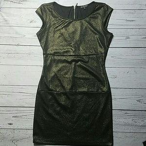 Mini dress black and gold Bebop